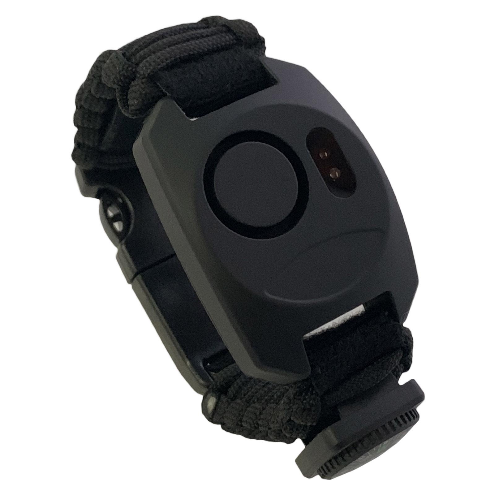 Черный браслет тактического назначения из паракордового шнура для активного отдыха