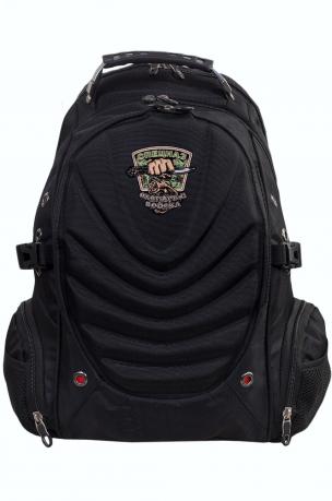 Черный эргономичный рюкзак с эмблемой Охотничий Спецназ