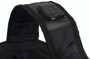 Черный эргономичный рюкзак с эмблемой Охотничий Спецназ - заказать оптом