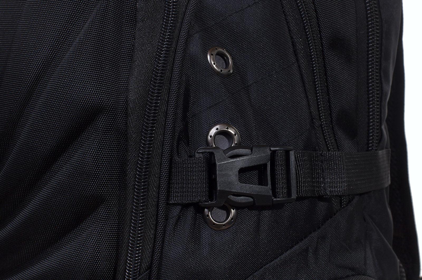 Черный эргономичный рюкзак с эмблемой Охотничий Спецназ - заказать в розницу