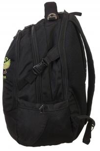 Черный эргономичный рюкзак с нашивкой Герб России - купить онлайн