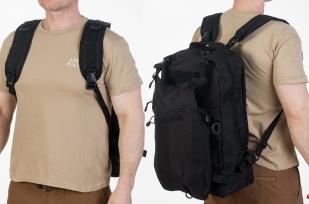 Черный эргономичный рюкзак с нашивкой Охотничий Спецназ - заказать с доставкой
