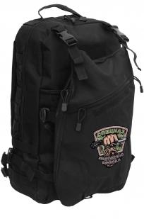 Черный эргономичный рюкзак с нашивкой Охотничий Спецназ - заказать в Военпро