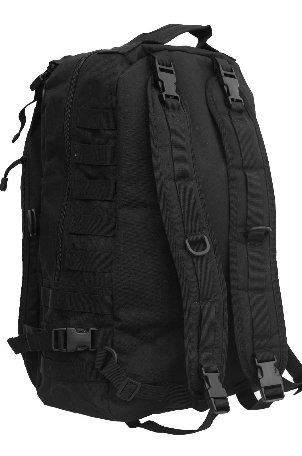Черный эргономичный рюкзак с нашивкой Охотничий Спецназ - заказать по низкой цене