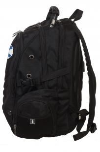 Черный эргономичный рюкзак с нашивкой За ВМФ - заказать с доставкой