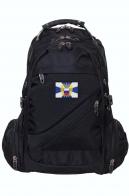 Черный городской рюкзак с эмблемой ФСО