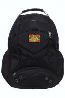 Черный городской рюкзак с эмблемой Погранвойск