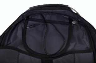 Черный городской рюкзак с эмблемой Погранвойск купить выгодно