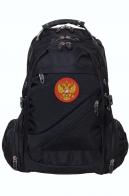 Черный городской рюкзак с Гербом России