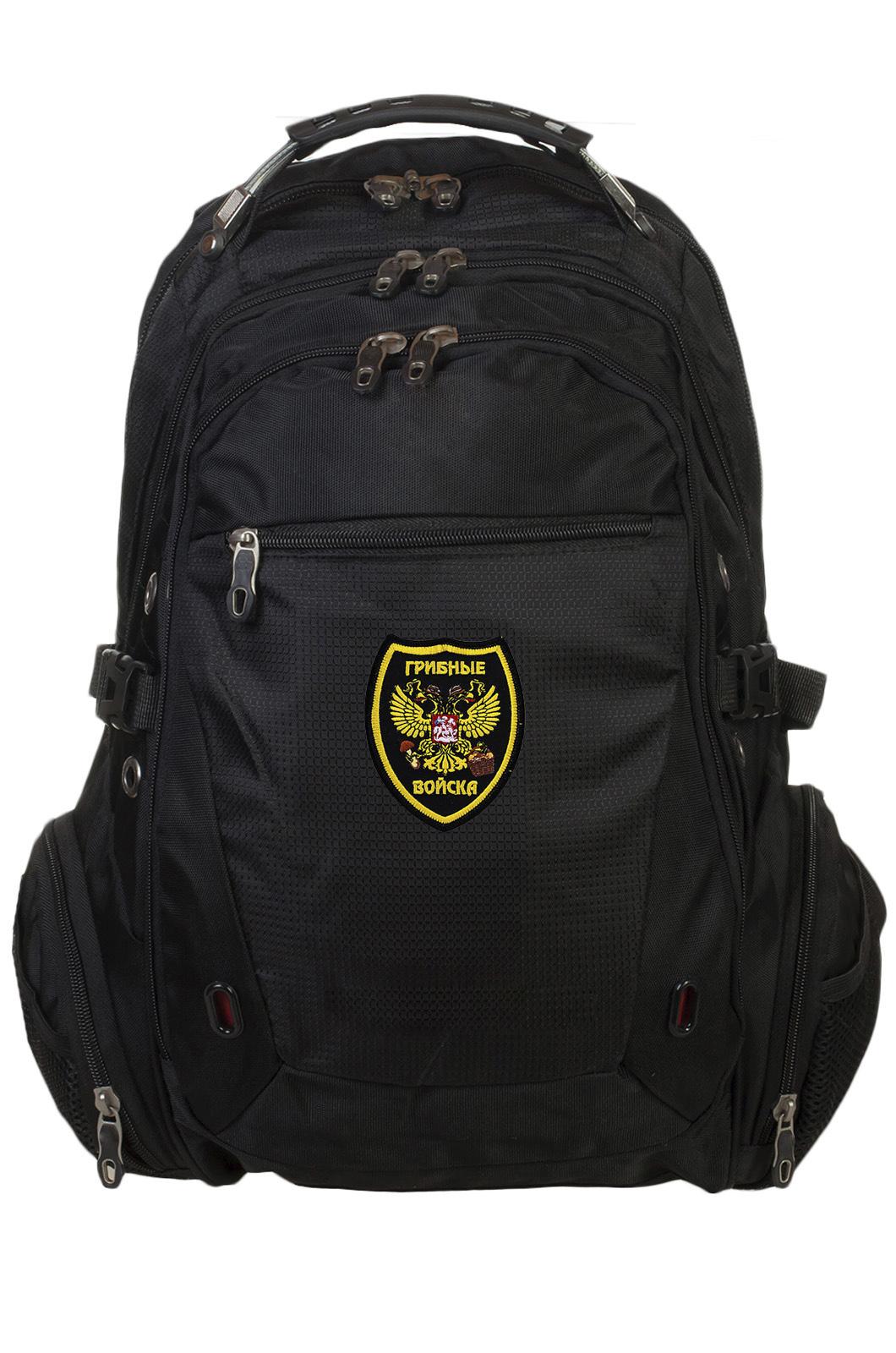 Черный городской рюкзак с нашивкой Грибных войск