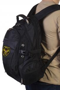 Черный городской рюкзак с нашивкой Грибных войск купить в подарок