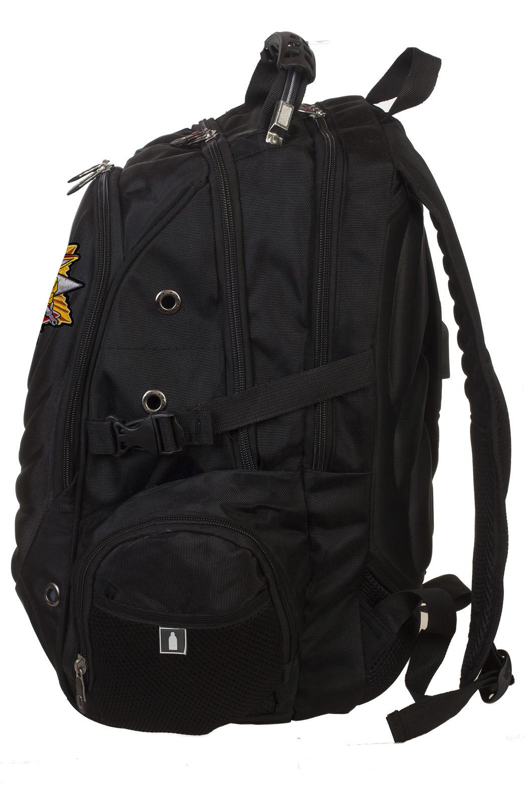 Черный городской рюкзак с нашивкой РХБЗ купить выгодно