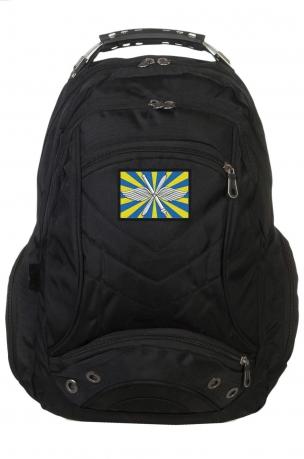 Черный городской рюкзак с нашивкой ВВС