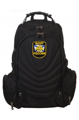 Черный городской рюкзак с шевроном Флот России