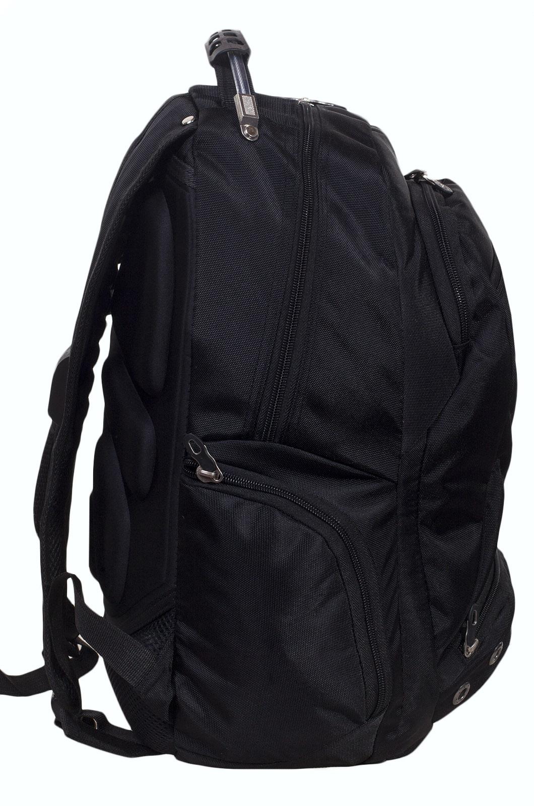 Заказать черный городской рюкзак с шевроном Спецназ