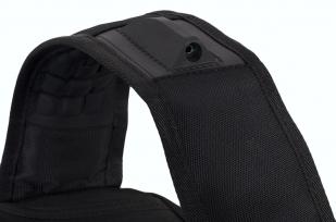 Черный городской рюкзак с шевроном Спецназ купить в подарок