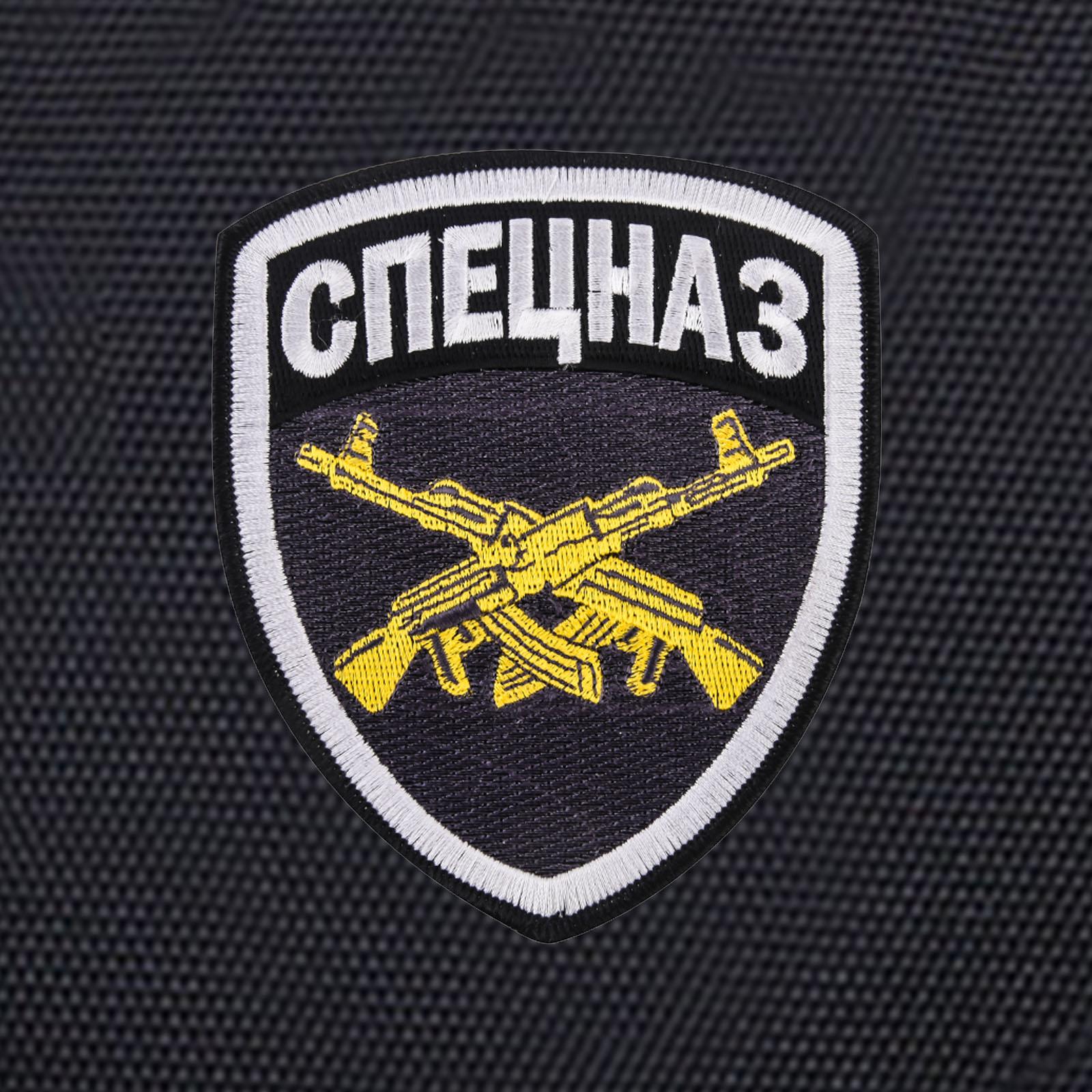 Черный городской рюкзак с шевроном Спецназ купить оптом