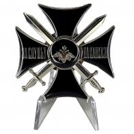 Чёрный крест За службу на Кавказе на подставке