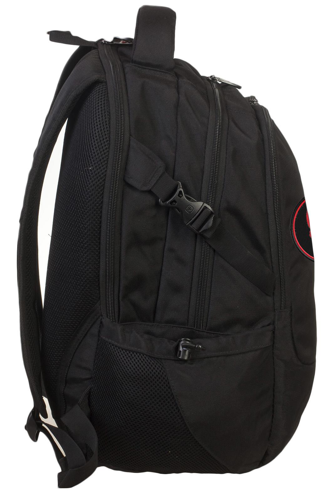 Черный крутой рюкзак с нашивкой Каратель - заказать онлайн
