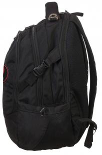 Черный крутой рюкзак с нашивкой Каратель - заказать с доставкой