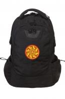 Черный крутой рюкзак с нашивкой Светоч