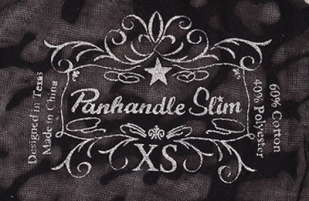 Черный женский лонгслив Panhandle Slim