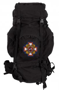 Черный многодневный рюкзак с нашивкой Потомственный Казак - купить в розницу