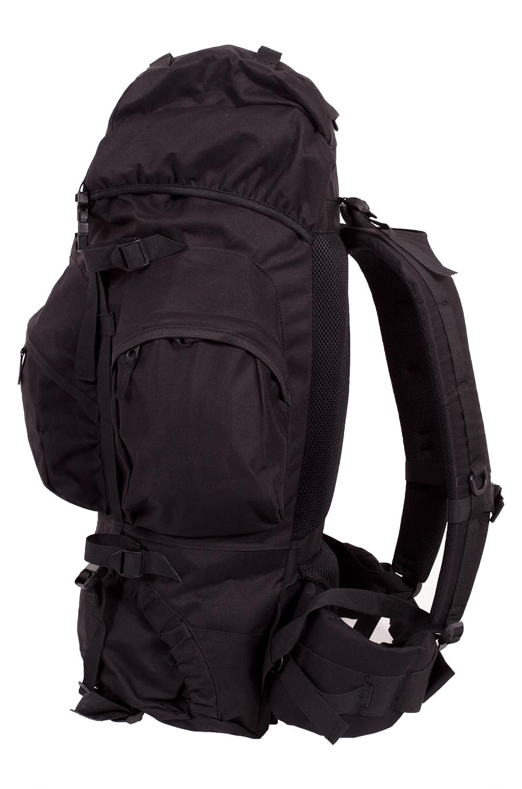 Черный многодневный рюкзак с нашивкой Потомственный Казак - купить оптом