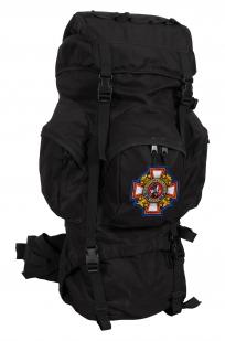Черный многодневный рюкзак с нашивкой Потомственный Казак - купить с доставкой
