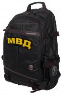 Черный молодежный рюкзак с нашивкой МВД - купить выгодно