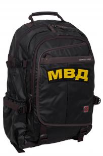 Черный молодежный рюкзак с нашивкой МВД - заказать оптом