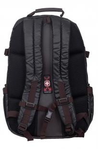 Черный молодежный рюкзак с нашивкой МВД - заказать с доставкой