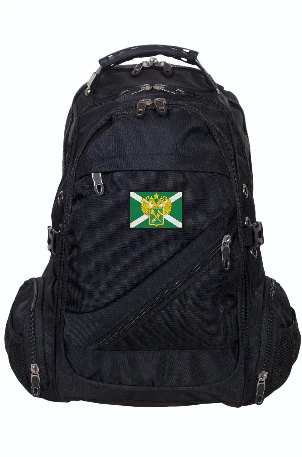 Черный молодежный рюкзак с нашивкой Таможня