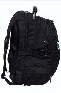 Заказать черный молодежный рюкзак с нашивкой Таможня
