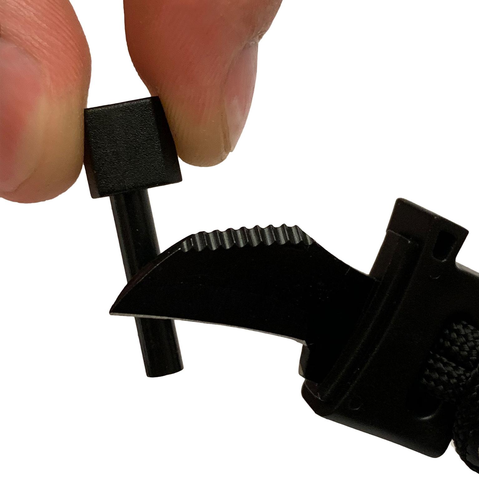 Черный мужской браслет выживания из паракордового шнура