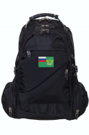 Черный мужской рюкзак с нашивкой ФССП