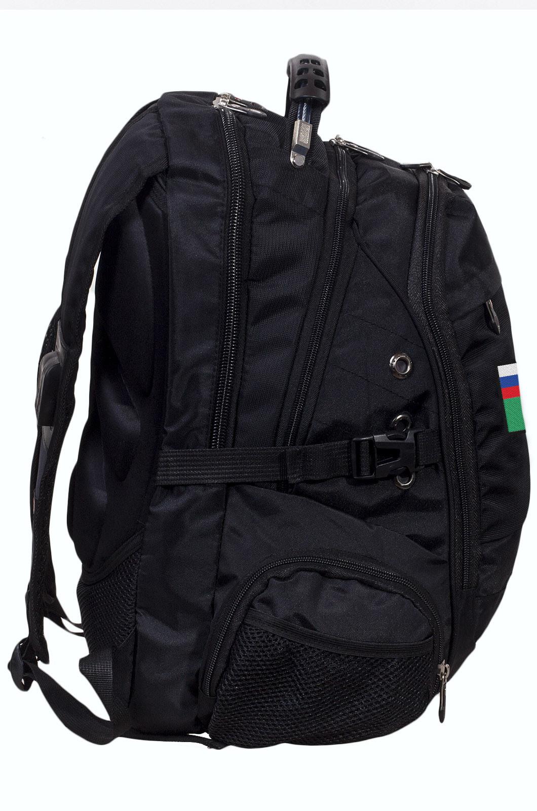 Заказать черный мужской рюкзак с нашивкой ФССП