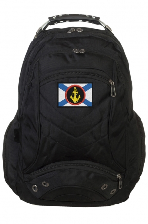 Черный мужской рюкзак с нашивкой МОРПЕХ