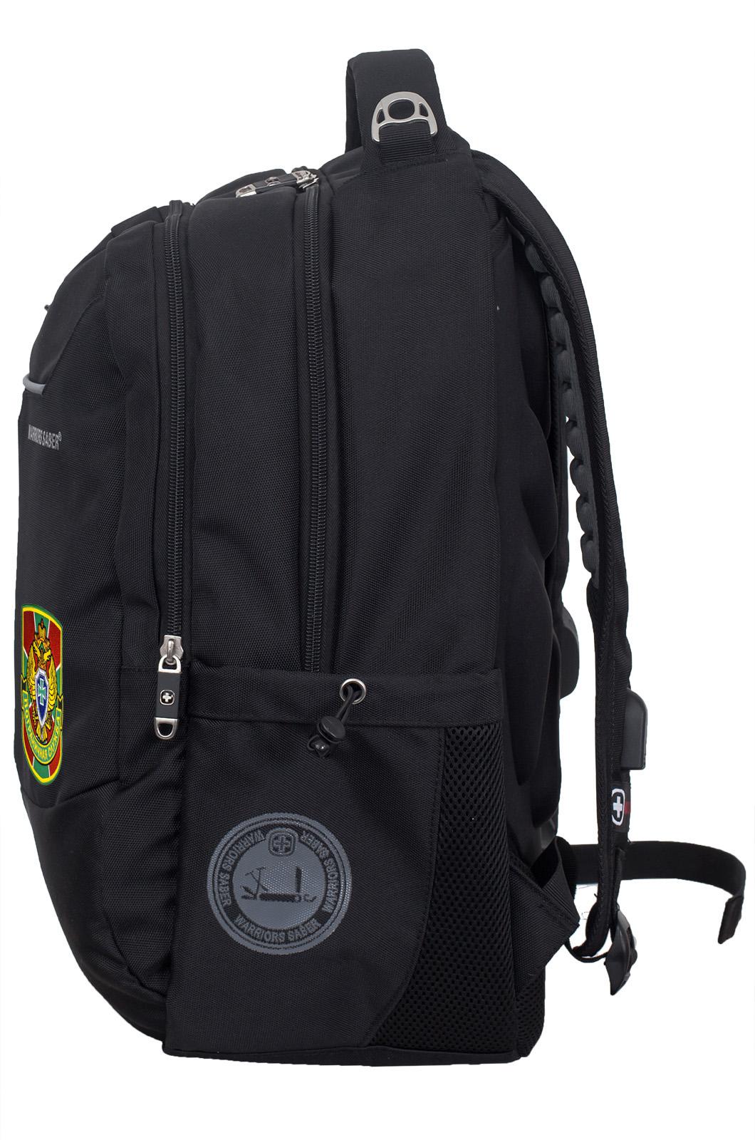 Черный мужской рюкзак с нашивкой Погранслужбы - купить оптом