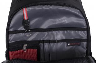 Черный мужской рюкзак с нашивкой Погранслужбы - заказать оптом