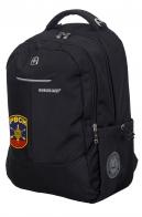 Черный мужской рюкзак с нашивкой РВСН - заказать выгодно