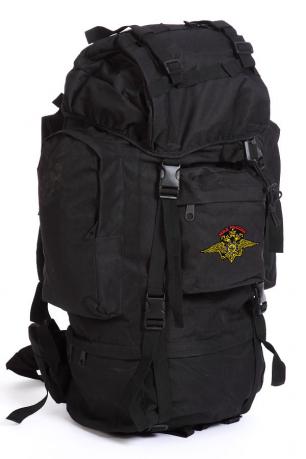 Черный мужской рюкзак с нашивкой Рыболовный Спецназ