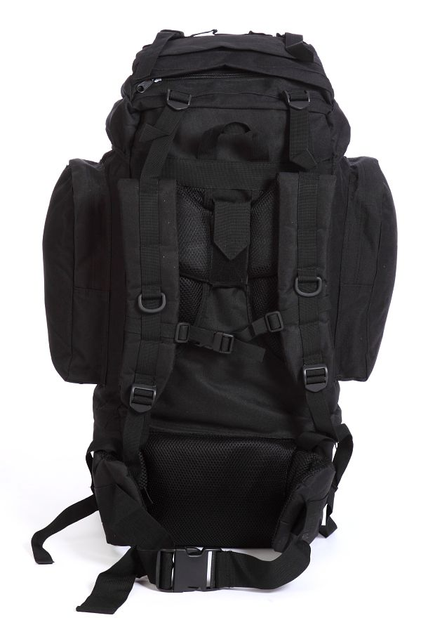 Черный мужской рюкзак с нашивкой Рыболовный Спецназ - заказать оптом