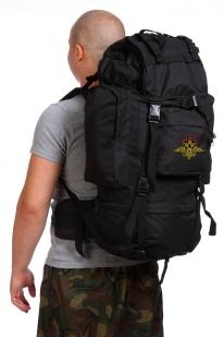 Черный мужской рюкзак с нашивкой Рыболовный Спецназ - заказать в розницу