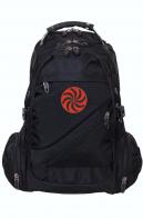 Черный мужской рюкзак с символом Даждьбога