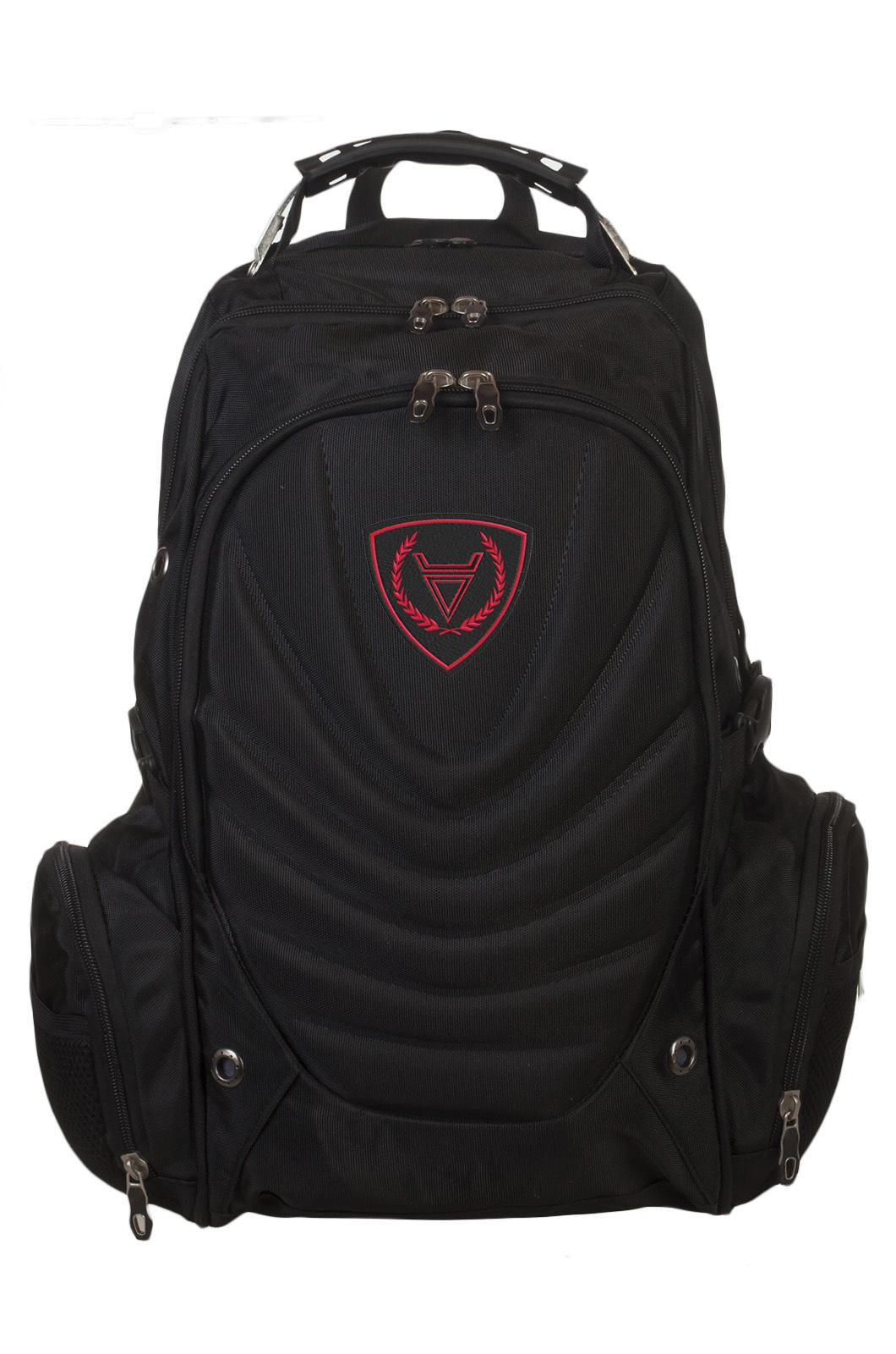 Черный оригинальный рюкзак с нашивкой Велес