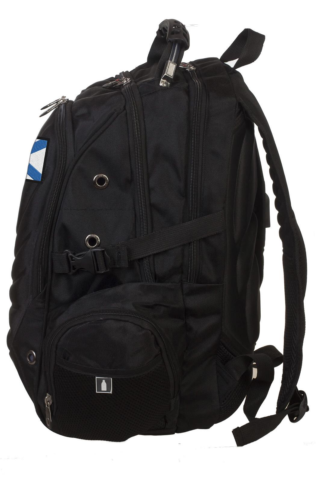 Черный оригинальный рюкзак с нашивкой За ВМФ - заказать онлайн