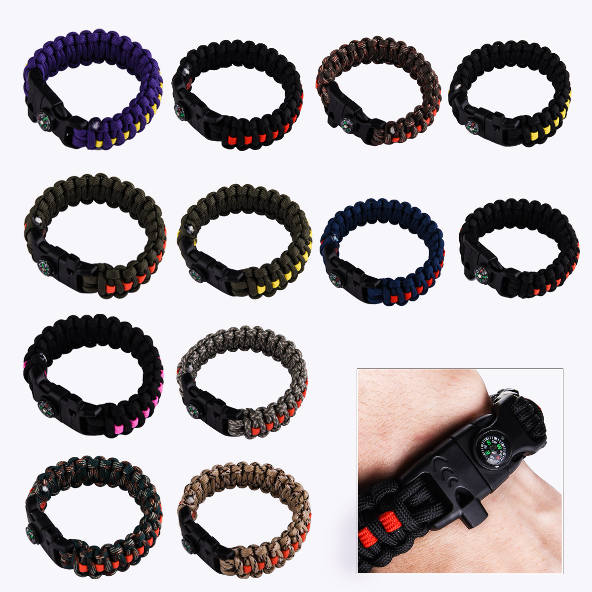 Чёрные плетёные браслеты с доставкой