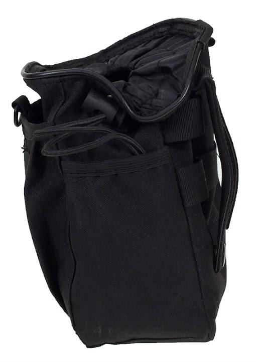 Черный подсумок под флягу с эмблемой МВД - универсальное крепление на поясе и рюкзаке оптом в Военпро