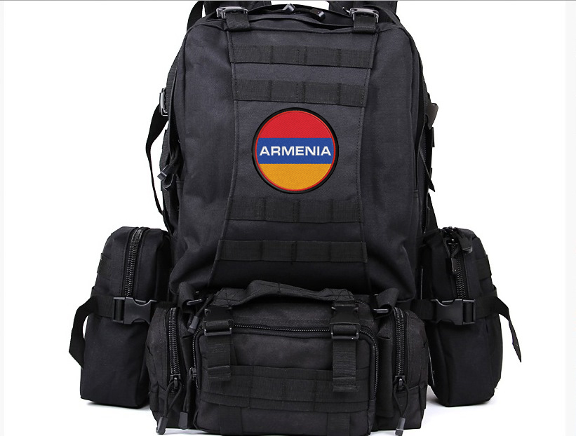 """Чёрный походный рюкзак """"Армения"""""""